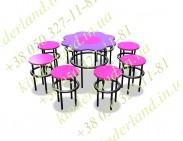 Песочный столик и 8 стульчиков Барби