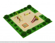 Детская мини площадка для двора