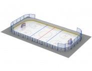 Хоккейная коробка 24х12, R= 3м