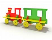 """Детская скамейка """"Паровозик с вагончиком"""""""