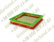Песочница деревяная (2,1м х2,1м)