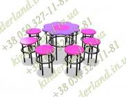 Пісочний столик і 8 стільчиків Барбі