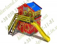 Игровой домик с гаражом и балконом