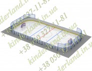 Хокейна коробка 24х12, R= 3м