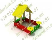Пісочниця з будиночком